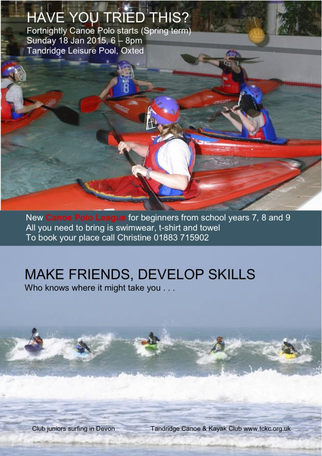 New Beginners Canoe Polo League in January 2015